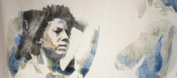 Asher Mains, uno degli artisti che espone al padiglione di Grenada