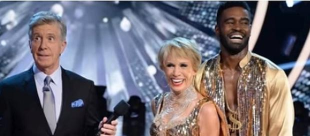 "Barbara Corcoran and Keo Motsepe on ""Dancing with the Stars"" [Image: Celebries News/YouTube screenshot]"