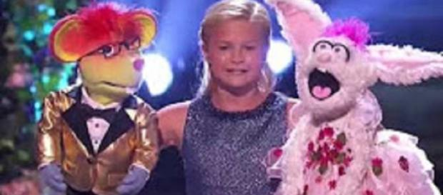 "Darci Lynne pulls out another premiere performance with two puppets in the ""America's Got Talent"" Season 12 finals Screencap Shawn Long/YT"