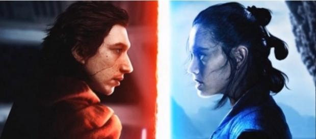 Kylo Ren and Rey - YouTube/Mike Zeroh