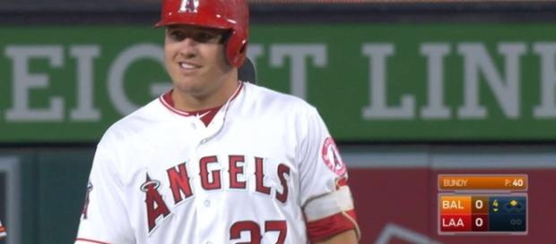 Mike Trout and the L.A. Angels host the Cleveland Indians on Tuesday night. [Image via MLB/YouTube]
