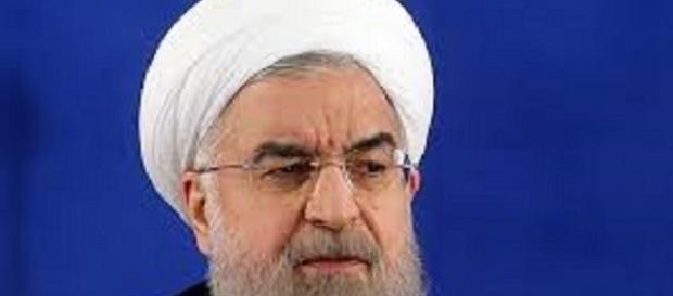 President Rouhani reacts to Trumps speech. Image wikimedia.org/ Hassan_Rouhani_press_conference_following_2017_election