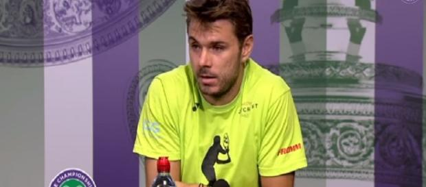 Stan Wawrinka during a press conference at 2017 Wimbledon/ Photo: screenshot via Wimbledon official channel on YouTube