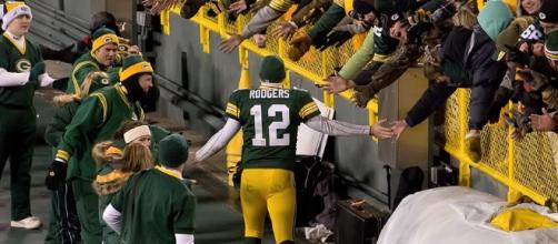Aaron Rodgers is one choice. Mike Morbeck via Wikimedia Commons