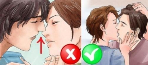 Coisas que você nunca deve fazer em um beijo.