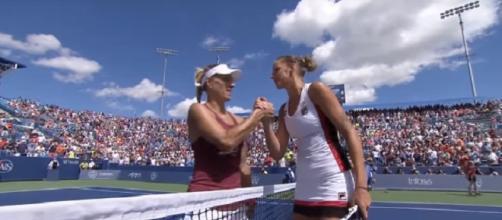 Kerber and Pliskova in Cincinnati back in 2016/Photo: screenshot via WTA official channel on YouTube