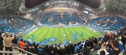 Les tribunes de l'Olympique de Marseille