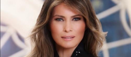 Melania Trump official portrait via Wikimedia Commons.