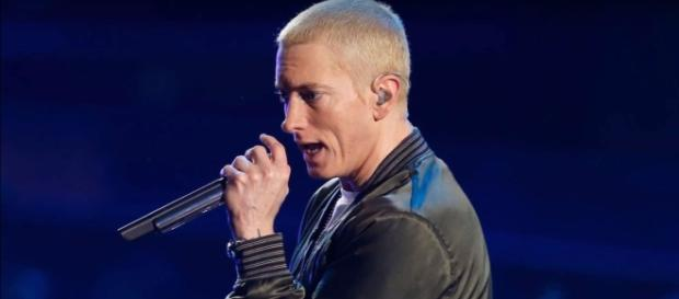 Eminem is currently raising funds to help the victims of Hurricane Harvey and Irma. Photo by TheTalko/YouTube Screenshot