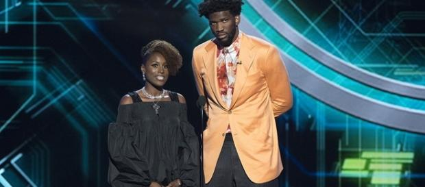 Issa Rae and Joel Embiid/ photo by ABC Television Group via Flickr