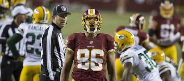 Jordan Reed should be able to return to action against the Raiders on Sunday - Keith Allison via WikiCommons