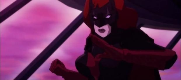 Lesbian DC super-heroine 'Batwoman,' as seen in animated film 'Batman: Bad Blood.' / from 'YouTube' screen grab