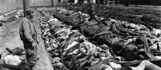 Mass grave during the Korean War