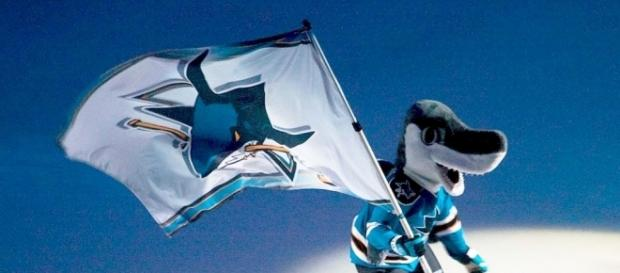 The San Jose Sharks mascot (Wikimedia Commons/pointnshoot on flickr)