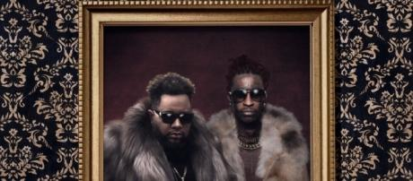 DJ Carnage & Young Thug in their best furs for the cover of 'Young Martha' [Image via https://twitter.com/djcarnage]