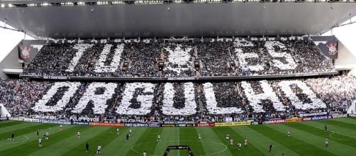 Arena lotada em jogo do Corinthians