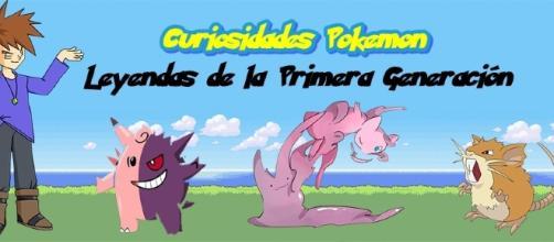 Curiosidades Pokemon: Leyendas de la Primera generación