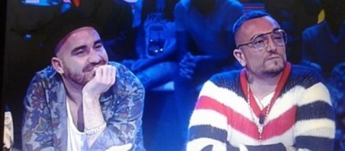 Da destra il Pancio e il rapper Gué Pequeno