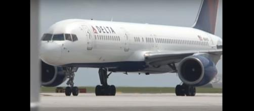 Delta Air Lines plane. (Image from kuamnews/Youtube)