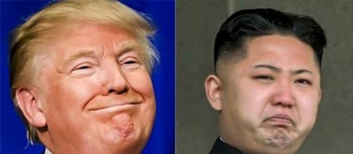 Donald Trump and Kim Jong-un, via Twitter