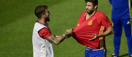 Gerard Piquer et Sergio Ramos.