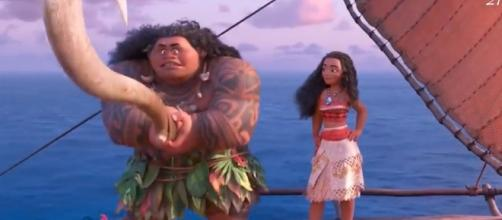 Moana's and Ariel's story mirror each other but in reverse. [Image via YouTube/Movies]