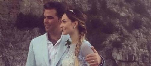 Noemi Letizia e Vittorio Romano nel giorno del loro matrimonio