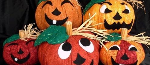 Patchword: calabaza de tela para Halloween con patrones