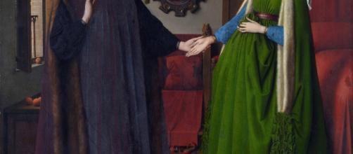 "Pintura flameca llamada ""El matrimonio Arnolfini"" de Jan Van Eyck"