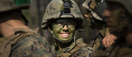 The US Marine Corps has announced it is set to admit its first female officer. Source;flikr.com