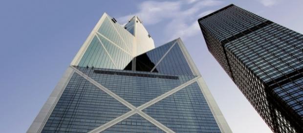 Bank of China in Hong Kong. / [Image by Bernard Spragg via Flickr, Public Domain]