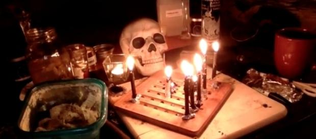 Black Witch S claims black magic can cure cancer. Photo via YouTube channel Black Witch Coven.