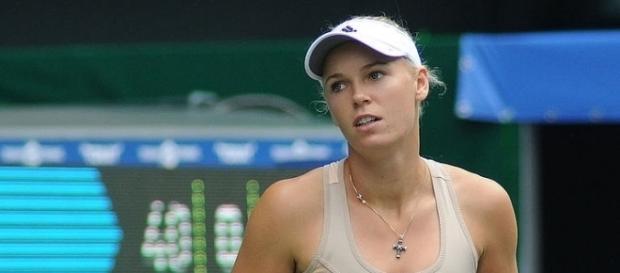 Caroline Wozniacki captured her 50th match win of 2017 -- Tatiana via WikiCommons