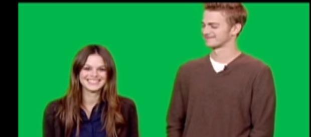 Rachel Bilson & Hayden Christensen behind the scenes - Image - DoSomething Org   YouTube