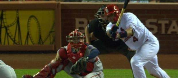 Yadier Molina was amongst the top players in today's Cardinals' win over the Reds. [Image via MLB/YouTube]