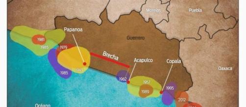 Brecha de Guerrero, más de cien años inactiva.