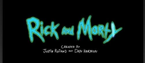 "Screenshot of the ""Rick and Morty"" intro screen on Hulu."