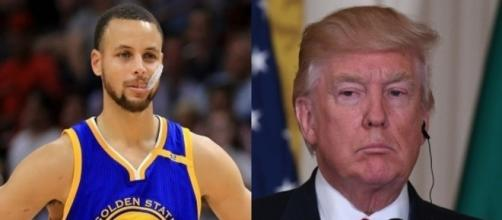 Steph Curry, Donald Trump, via Twitter