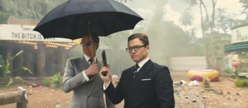 """Taron Egerton (right) and Colin Firth (left) reunite in the newest """"Kingsman"""" spy thriller - YouTube/20th Century Fox"""