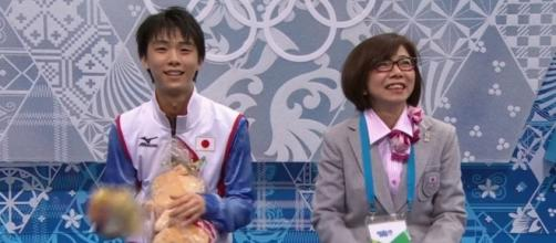Yuzuru Hanyu at the Kiss and Cry at Sochi 2015. Credits to: Youtube/Olympics