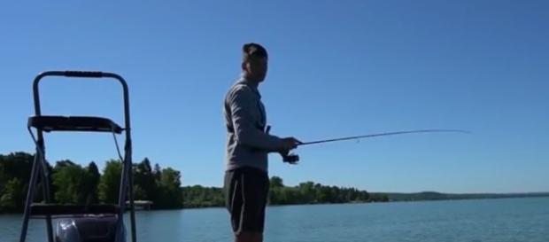 It's time to go fishing. [Image via YouTube/Chris Bulaw]