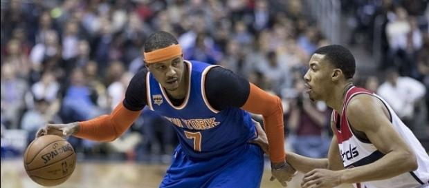 New York Knicks star Carmelo Anthony traded to Oklahoma City Thunder credit - Wikimedia Commons/Keith Allison