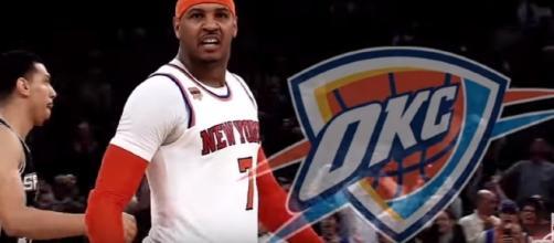 Carmelo Anthony has joined the Oklahoma City Thunder - youtube screen capture / ESPN