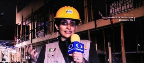 Danielle D'Ithurbide durante la transmisión televisiva (Foto: tomada del video, Oscar Patiño)