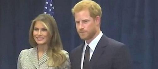 First Lady Melania Trump meet Prince Harry [Image: Hot News/YouTube screenshot]