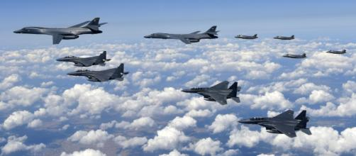 In a show of might, US bombers have flown near North Korea to signal their readiness. Source; andersen.af.mil