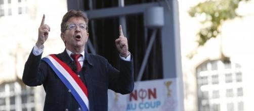 Jean-Luc Mélenchon, son discours du 23 Septembre (GEOFFROY VAN DER HASSELT / AFP)