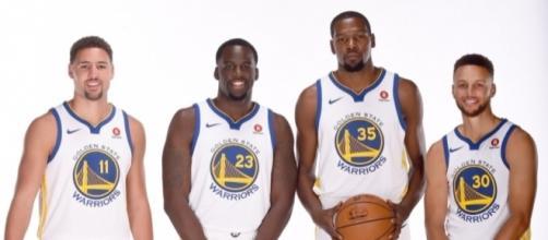Kevin Durant avait rejoint les Golden State Warriors à l'été 2016 (via Twitter - NBA)