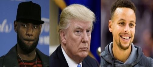 LeBron James, Donald Trump, Steph Curry, via Twitter