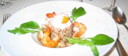 Les spécialités Ardéchoises (ici un plat préparé par le chef Bernard Mathé à Serrières) sont unanimement appréciées.
